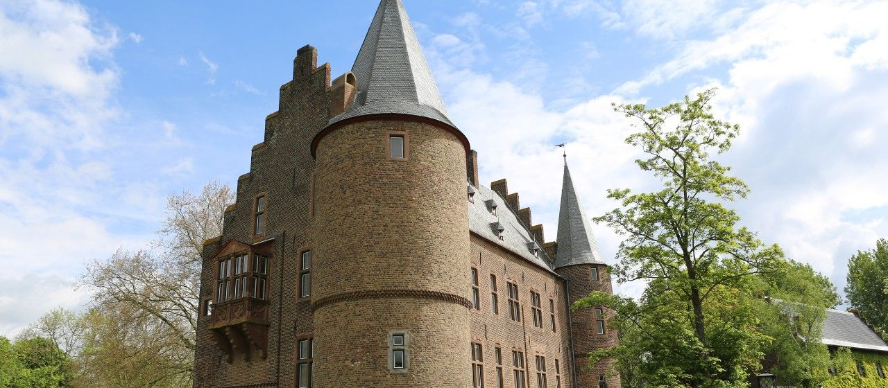 Außenasicht der Burg Konradsheim in Erftstadt